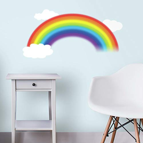 RoomMates Over The Rainbow Peel and Stick Giant Wall Decal