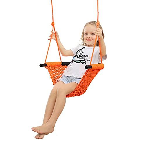 Altalena per bambini Seggiolino da bambino Seggiolino per bambini Sedia per bambini Sedia per bambini Swings Sedia per al di fuori Altalena regolabile in altezza ( Colore : Orange , Size : 50X43X7cm )