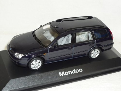 Ford Mondeo Kombi Turnier Blau Schwarz 2000-2007 1/43 Minichamps Modell Auto Modellauto SondeRangebot