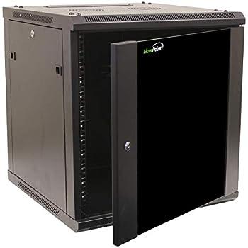NavePoint 12U Wall Mount Network Server 600mm Depth Cabinet Rack Enclosure Glass Door Lock