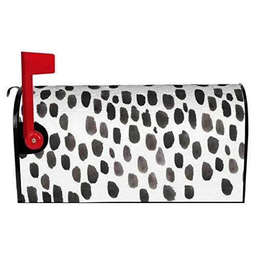 Briefkasten-Abdeckung, schwarze Punkte, bedruckt, Briefkasten-Abdeckung für Garten, Hof, Außendekoration, Standardgröße 53,3 cm L x 45,7 cm B