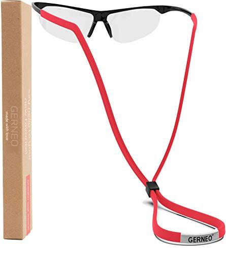 GERNEO® - DAS ORIGINAL – Premium Sportbrillenband & Brillenband Sport für Sportbrillen, Sonnenbrillen, Lesebrillen – in rot – wasserfest