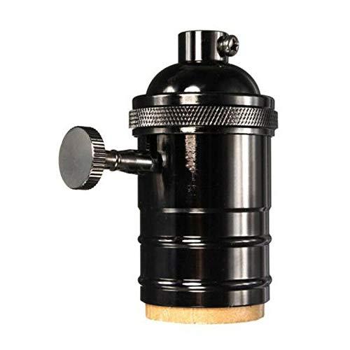 Loriver Adaptador de luz del Soporte de la lámpara del zócalo de Bombilla Retro Vintage E27 con Interruptor de Inicio