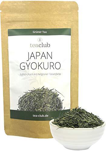 Japan Gyokuro Grüner Tee Kagoshima 50g, Edler Japanischer Grüntee Lose, Tea-Club Green Tea