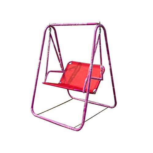 LuoMei Columpio Lazy Silla Informal Ocio Al Aire Libre Silla Doble Silla Antideslizante Balcón Individual Envío Gratis Cepillo Adhesivorojo