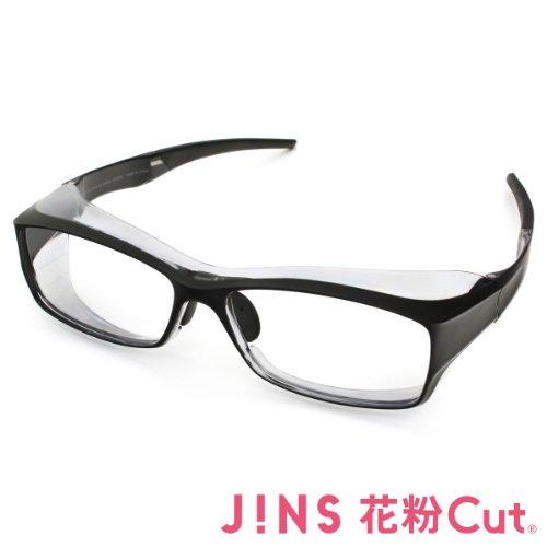 【JINS 花粉Cut(R)】花粉最大98%カット!異物からスタイリッシュに眼を守るメガネ ビッグシェイプ(度なし)MATT BLACK