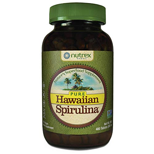 Pure Hawaiian Spirulina-500mg Tablets 400ct - Natural Premium Spirulina from Hawaii - Vegan, Non-GMO, Non-Irradiated - Superfood Supplement & Natural Multivitamin