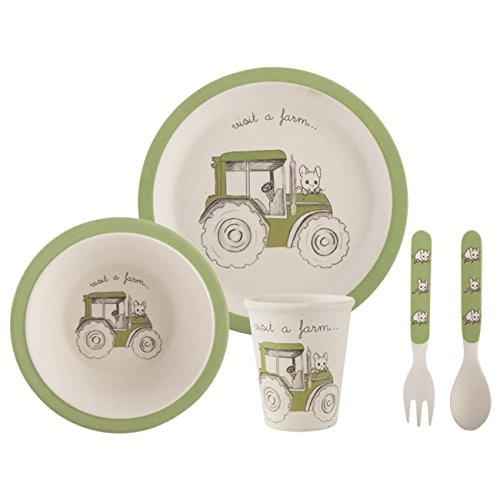 Creative Tops Besuche einen BauernhofTraktor 5-teiliges Kinder-Geschirr-Set