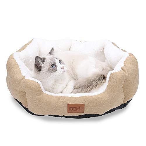 HOdo Home 猫 ベッド 犬 ベッド ふかふか ペットベッド ペットクッション ペットソファー かわいい ペットマット 小型/中型犬用 猫用 洗える ふわふわ 柔らかい 冬 夏 通年タイプ M (56x46x14cm ベージュ)