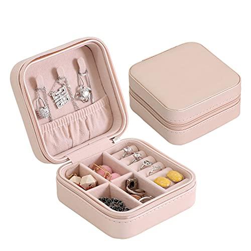 GZA Boucles d'oreilles Portables Boucles d'oreilles Portables Boîte À Glissière Boîte De Rangement Accueil Bijoux De Voyage (Color : Light Pink)
