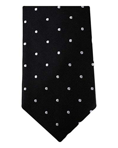 David Van Hagen Black/Silver Polka Dot cravate de