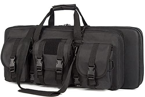 AIRTTUZ Double Rifle Case Tactical Rifle Gun Bag,Suitable...