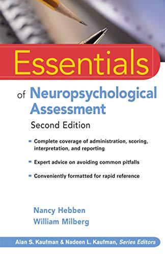 Essentials of Neuropsychological Assessment