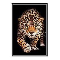 COWIAHE 抽象動物ヒョウ壁アートポスター絵画プリントリビングルーム家の装飾-50X70CMフレームなし1個