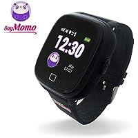 SoyMomo H2O Reloj Inteligente para Niños con GPS y Botón SOS, Móvil para niños con Ranura para SIM Que Permite Llamadas y Mensajes, Smartwatch para Niños con Rastreador GPS Resistente al Agua (Negro)