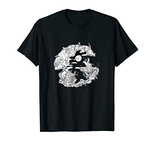 Japanische Anime Lovers Sketch T-Shirt