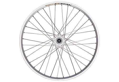 Bike-Parts 26´´ Vorderrad Exal ZX 19 + Nabendynamo Shimano DH-C3003 (QR), Dimension:19-559 (26x1.90´´), Ausführung:silber/silber/Niro
