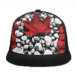Kingam - Cappelli da baseball con renna floreale, unisex, con visiera piatta, stile hip-hop e street dance