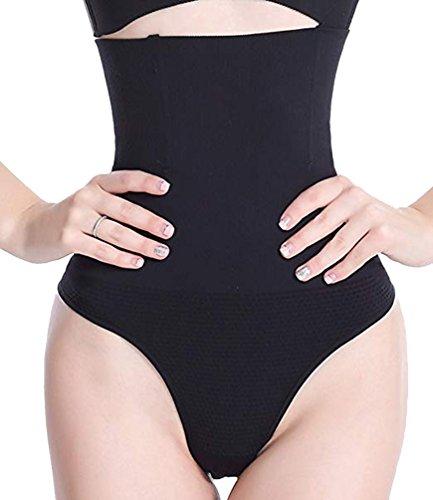 DODOING Women Body Shaper Thong Hi-Waist Cincher Girdles Tummy Control Panty Shapewear