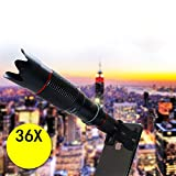 ShiningXX Universal High Definition 36X Telephoto Lens for IOS Android Mobile Phone Travel