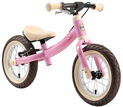 BIKESTAR Kinder Laufrad Lauflernrad Kinderrad für Mädchen ab 3 - 4 Jahre | 12 Zoll Sport Kinderlaufrad Rosa | Risikofrei Testen