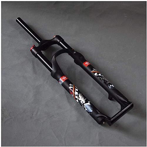 SEESEE.U Horquilla de Bicicleta Horquilla de suspensión 26 Pulgadas Aleación de Aluminio MTB Bicicleta Montaña Competitiva Control Remoto 1-1/8'Disco 120Mm Viaje de Resorte