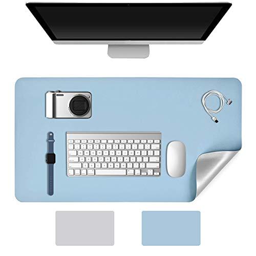 YingStar Alfombrilla de Escritorio Grande Alfombrilla de Ratón Teclado 70 x 35cm Estera del Escritorio Oficina Doble Cara Cuero PU Vade para Escritorio Mesa Protector Mouse Mat para Gaming Ordenador