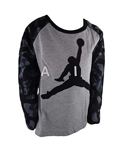 Jordan Air Nike Boys' Jersey T-Shirt Top (4, BLA/DK GH)