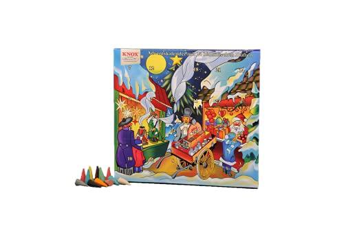 Knox Calendario de Adviento con 24 aromas celestiales – Mercado de Navidad – Fabricado en Alemania