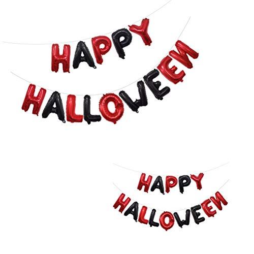 TOYANDONA 1 Set Halloween-Folienballons Happy Halloween Letters Ballons Banner für Restaurant Hotel Cafe Büro Shopping Mall Home
