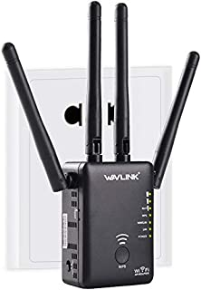 Wavlink AC1200 - Extensor de Alcance WiFi, Punto de Acceso, Router inalámbrico, Doble Banda con 4 Antenas externas de Alta...
