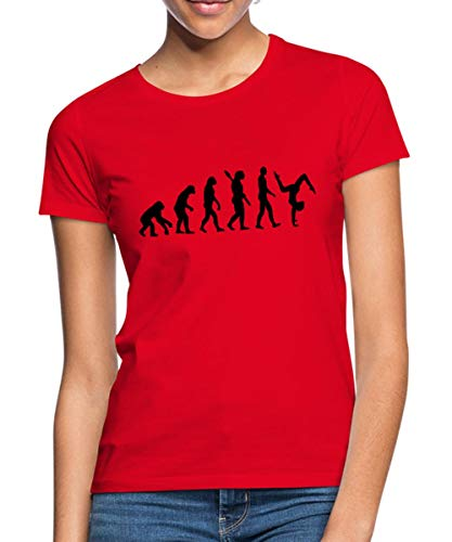 Turnen Evolution Turnerin Handstand Frauen T-Shirt, S (36), Rot