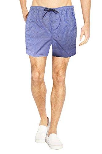 Brave Soul Herren-Shorts mit Netzfutter Gr. Größe-Medium, Königsweiß/Blau