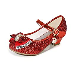 Red/B1 Heels Mary Jane Princess Flower Girl Shoes