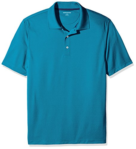 Amazon Essentials Herren Poloshirt Regular-fit Quick-dry Stripe Golf Polo Shirt, Blau (Inky Blue), L