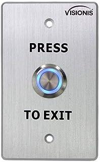 Visionis VIS-7001 Indoor Outdoor Weather and Waterproof Rated IP65 Stainless Steel Door Bell Type Round Request to Exit Bu...