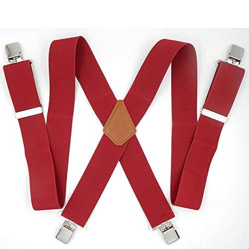 Yiph-Belt Gürtel Freizeit Verbreiterte 5-cm-Stretchgurte, Anzug for Dicke Männer (Farbe : 4 Clip)