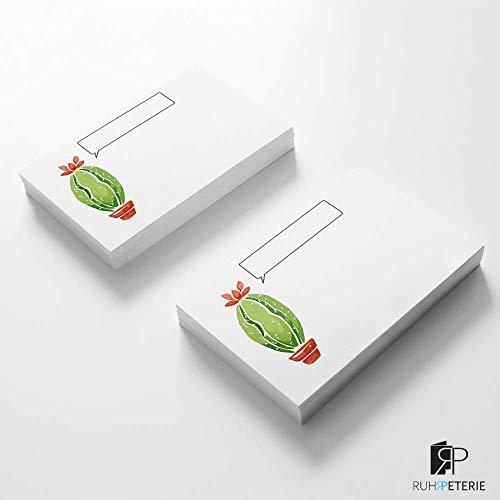 18 Karten | Kaktus Sommer | Mini Grußkarten einseitig | Grußkarten Set von RUHRPETERIE