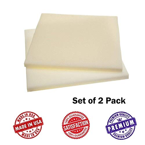 """Upholstery Visco Memory Foam Square Sheets- Two Pack - 3.5 lb High Density 1""""x22""""x22""""- Best Quality for Sofa, Chair Cushions, Squishy Toy, Pillows, Good for Backache & Bed Sores- Dream Solutions USA"""
