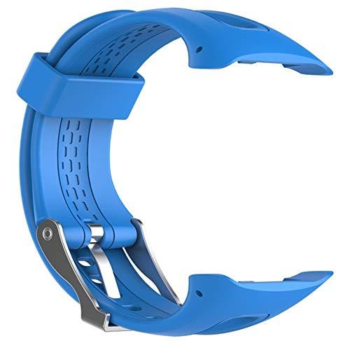 AiKoch S/L 8 Couleurs Sport Silicone Bracelet Bracelet Bande for Garmin Forerunner 10 15 Montre De Sport GPS Remplacement Bracelet avec Outil Substitute (Color : Blue, Size : 22cm)