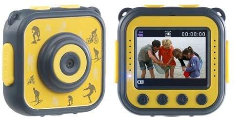Monsterzeug Kinderkamera, Digitalkamera Kids, Action Cam Kinder, Fotoapparat, Unterwasseraufnahmen, Wasserdicht, HD Action Cam Children,