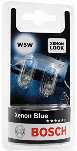 Lámparas Bosch para vehículos Xenon Blue W5W 12V 5W W2 1x9, 5d (Lámpara x2)
