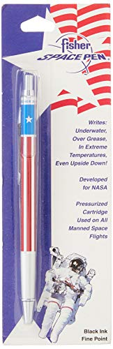 Price comparison product image Fisher Space Pen,  All Metal Space Pen with American Flag Design,  Black Ink,  Fine point (SAFP5)