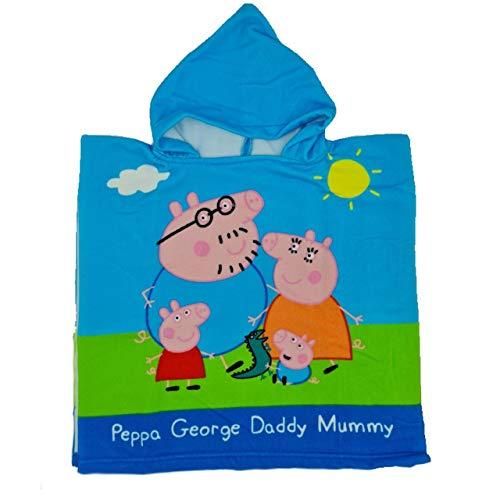 Poncho Toalla Playa niño niña Peppa Pig, Poncho Toalla Piscina Peppa Pig