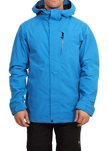 Volcom L Gore-Tex Snowboard Jacket Mens Sz L Cyan Blue