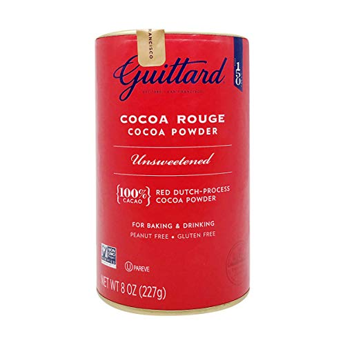 Guittard Cocoa Powder, Unsweetened Rouge Red Dutch Process Cocoa, 8oz Can