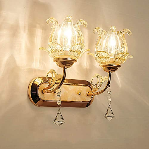 Aplique de Pared Vintage Industrial Lámpara de pared de estilo moderno, lámpara de pared colgante de cristal, pasillo del dormitorio, portalámparas de pared para sala de estar, portalámparas E14 (bom