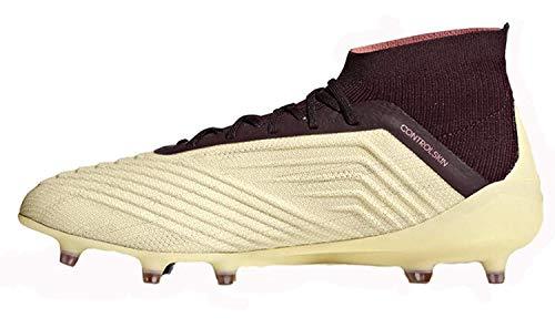 adidas Predator 18.1 Firm Ground Cleats (Women's) - (Talc/Vapor Grey Metallic/Maroon) (6-)
