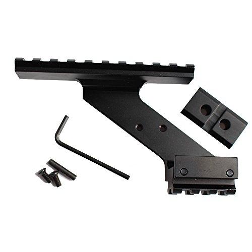 Noga Universal Tactical Pistol Scope Mount Weaver et Picatinny Rail Pistol Rail pour l'ajout de Scope Sight Flashlight Laser