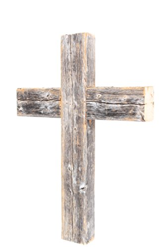 BarnwoodUSA Decorative Cross, Rustic Christian Home Decor, Recycled Wood (Weathered Gray)